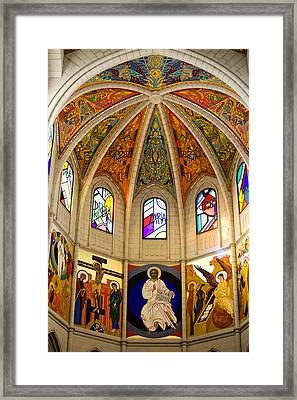 Almudena Cathedral Interior Framed Print by Artur Bogacki