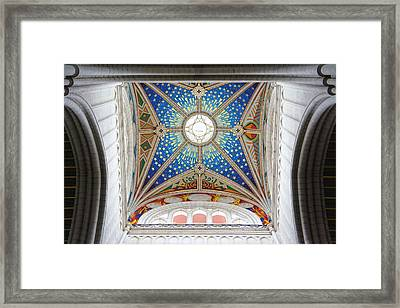 Almudena Cathedral Interior Framed Print by Jenny Hudson