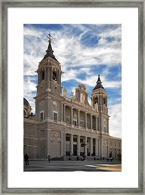 Almudena Cathedral Framed Print by Joan Carroll