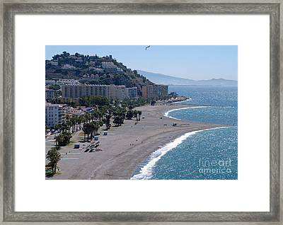 Almunecar Beach - Andalucia - Spain Framed Print by Phil Banks