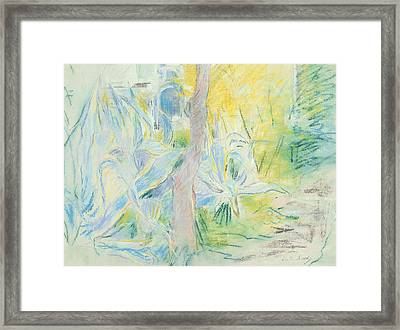 Aloes At Villa Ratti Framed Print by Berthe Morisot
