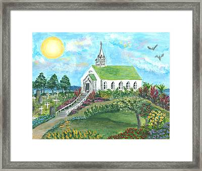 Aloha Church Framed Print by Atlanta Carrera