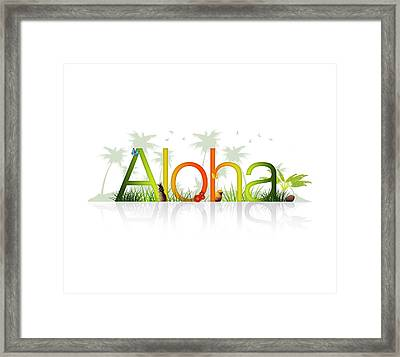 Aloha - Hawaii Framed Print by Aged Pixel