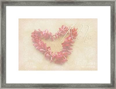 Aloha Lei Framed Print by Sharon Mau