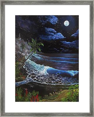 Aloha Luna Framed Print