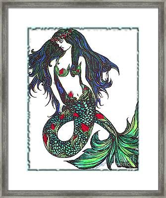 Aloha Mermaid Framed Print by Valarie Pacheco