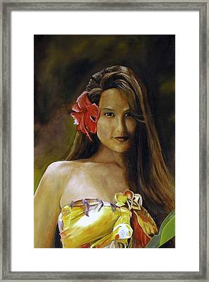 Framed Print featuring the painting Aloha by Rick Fitzsimons