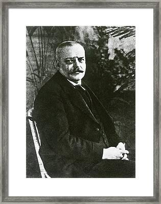 Alois Alzheimer Framed Print by National Library Of Medicine