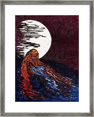 Aloja Water Woman Framed Print by Maria Arango Diener
