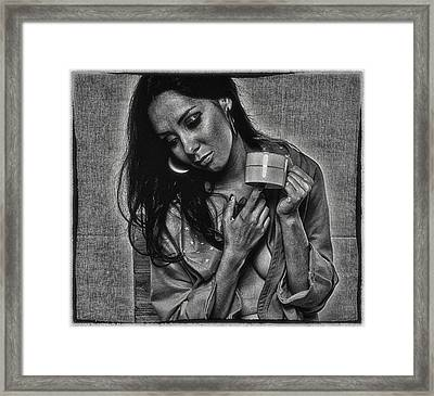 Framed Print featuring the photograph Alone Again ... by Chuck Caramella