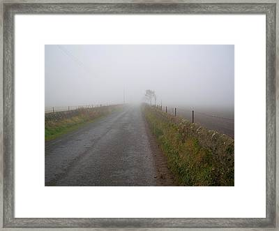 Alone And On The Path Framed Print by Tom Trimbath