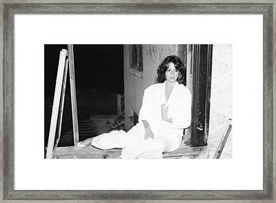 Framed Print featuring the photograph Alone And Peaceful by Steven Macanka