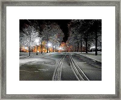 Alone At Keeneland Framed Print by Christopher Hignite