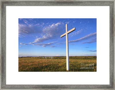 Alone At The Cross Framed Print