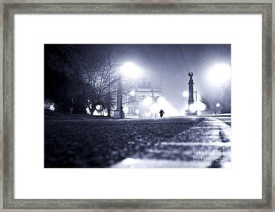 Alone Brooklyn Nyc Usa Framed Print