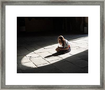 Alone In A Pool Of Light Framed Print by Alex Lapidus