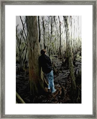 Alone In His Thoughts Framed Print