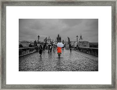 Alone In The Crowd Framed Print