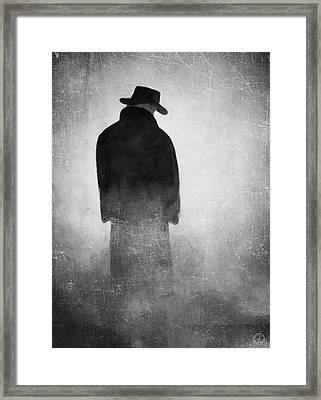 Alone In The Fog 2 Framed Print