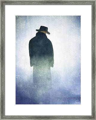 Alone In The Fog Framed Print