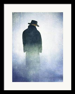 Man With Hat On His Head Framed Prints
