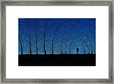 Alone In The Forrest Framed Print by Gianfranco Weiss