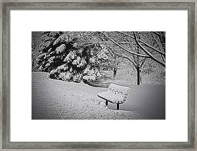 Framed Print featuring the photograph Alone In The Park.... by Deborah Klubertanz