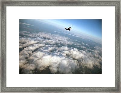 Alone In The Sky Framed Print by Flavioalmeida