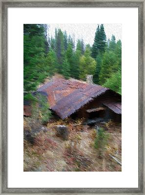 Alone In The Woods Framed Print by Kevin Bone