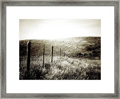 Alone In Wyoming Framed Print by Terry Eve Tanner