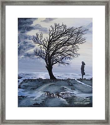 Alone Framed Print by Lisa Golem