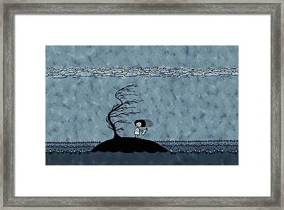 Alone On An Island Framed Print by Gianfranco Weiss