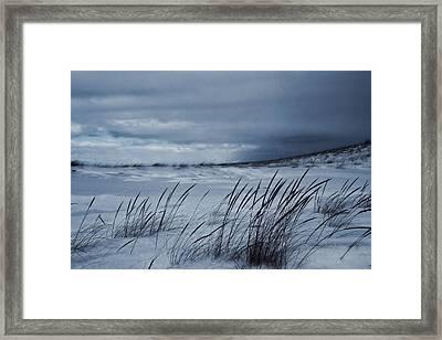 Alone On The Beach Framed Print