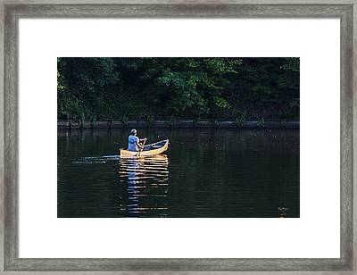 Alone On The Lake Framed Print by Barry Jones