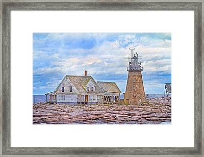 Alone On The Rocks Framed Print