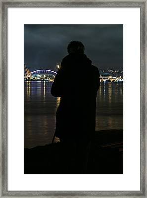 Alone On The Shore Framed Print