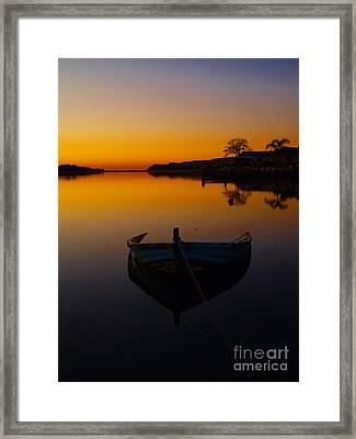 Framed Print featuring the photograph Alone by Trena Mara
