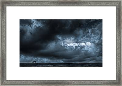 Alone Framed Print by Vincent  Dale