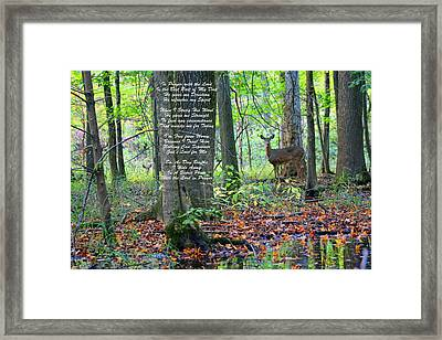 Framed Print featuring the digital art Alone With God by Lorna Rogers Photography