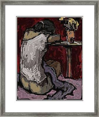 Alone With Grief Awg11 Framed Print
