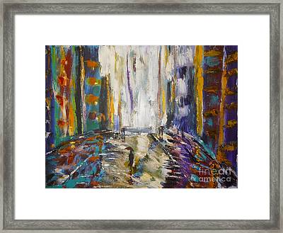 Alone With My Dog Framed Print by To-Tam Gerwe