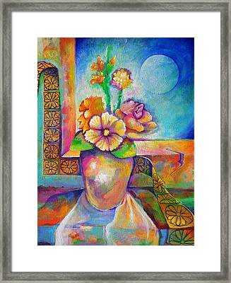 Alone With The Last Remaining Flowers Framed Print