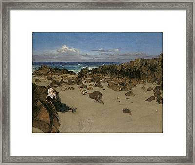 Alone With The Tide Framed Print by James Abbott McNeill Whistler