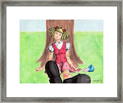 Along Came A Spider Framed Print by Bibo