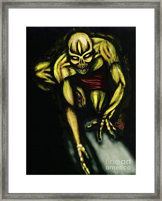 Along Comes A Spider... Framed Print by Coriander  Shea