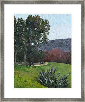 Along Cornell Road Framed Print