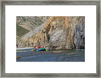 Along Kongakut River Framed Print