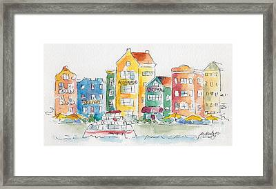 Along Saint Anna Bay Framed Print