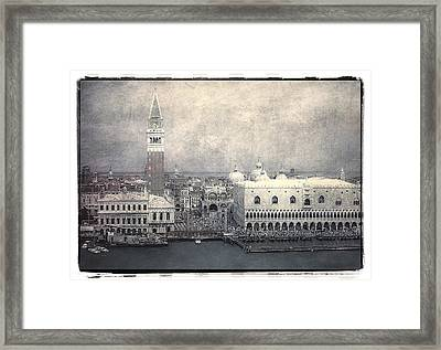 Along St. Mark's Square Framed Print by Julie Palencia