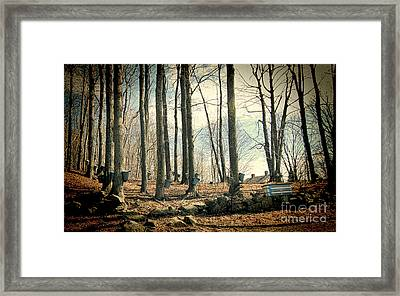 Along The Back Roads Framed Print by K Hines